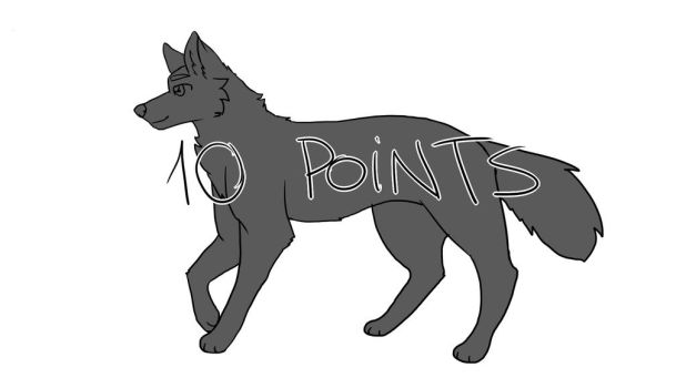 10 points wolf base OPEN by Aki-hay-Adopts