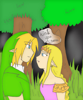 Link and Zelda reunited by SparxPunx
