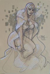Emma Frost ECCC 2016 by TerryDodson