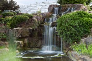 Kew gardens Waterfall 1 by DrHamster