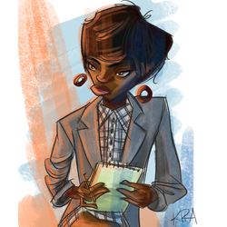 Office Woman by Kiracatures