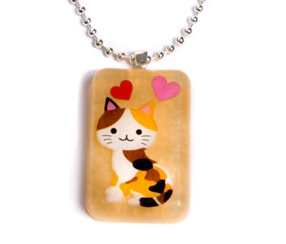 Pearly Gold Cat Pendant by ZoeQuinn