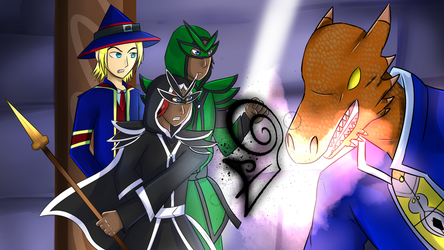 [Commission] Wizard101 for HunterBlueGem by Ghostfinder101