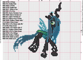Queen Changeling Cross Stitch Pattern by AgentLiri