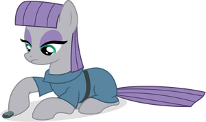 Maud Pie Playing With Boulder by TomFraggle