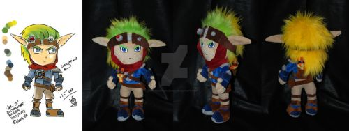 Jak and Daxter Custom Made Plushie by sewcuteplushies