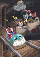Beppi the clown Cuphead by MeltingDragon