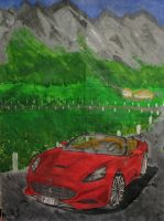 Ferrari California Art by DesigningDj