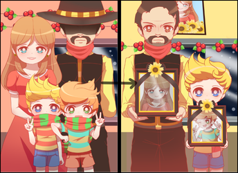 Mother 3 - Lucas's Family Christmas Pictures by Koki-arts