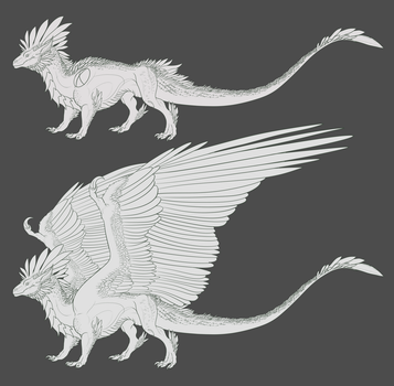 Featherback Lineart by DelusionalPuffball
