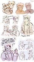 Stan twins sketchdump by Mistrel-Fox