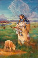 White Buffalo Calf Woman by HarttoHeart