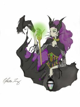 Maleficent from Disney's Sleeping Beauty by clintneon