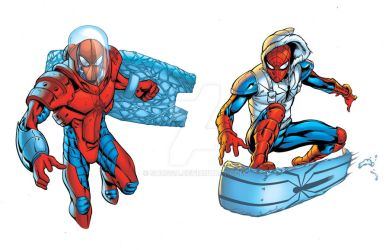 Zero G and Snowboard Spidey by Shugga