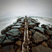 The Road that Crumbled by PhotograpHeller