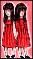 Little Scarlet and Sally by Cageyshick05