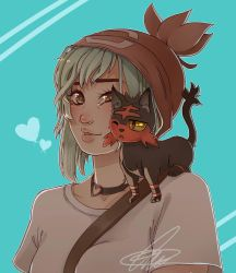 Me and My Future Litten - Loki by N-For-Naru