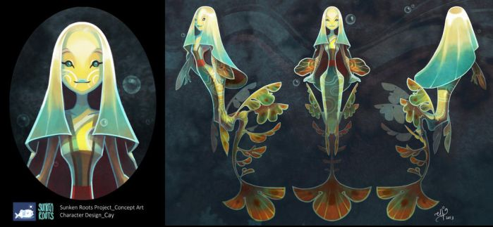 Sunken Roots Concept Art - Cay by SillyJellie