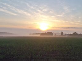 sunrise in franconia by Mittelfranke