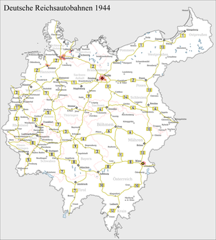Greater Germany Autobahn Map by Arminius1871