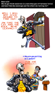 Undertale ask blog: time for puns by JimPAVLICA