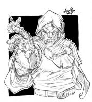 Doctor Doom Sketch by StarExtinction
