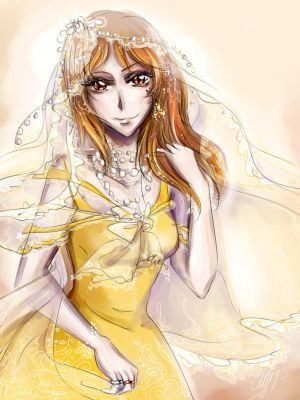 Yellow dress and four rings by Rinoa-Light-Leonhart