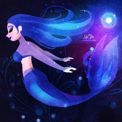 Blue Mermaid by LilaCattis