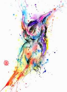Abstract owl by Psyca-art