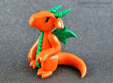 Orange Pumpkin Dragon by HowManyDragons