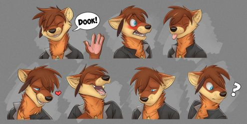 Commission: Elan Azlo's Expression Sheet by Temiree