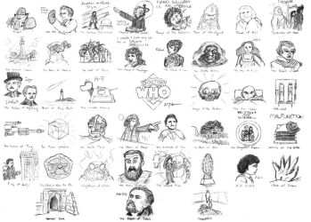 Doctor Who doodles - The Fourth Doctor by FrankRT