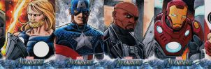 Avengers sketch cards The Ultimates by KidNotorious