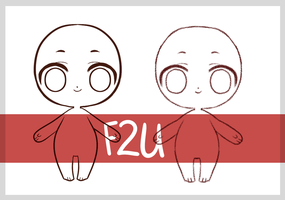 [F2U] Simple Chibi Base + Crayon by Ryno-Chalklut