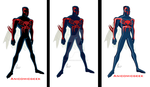 Spider-Man 2099 Comparsion by Anicomicgeek