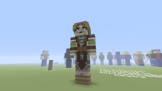 Minecraft Statues 1 - Aela The Huntress by F0X1G4MING