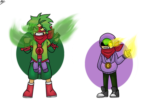 PvZ heroes Human!AU - Disbelief!GK and Geno!GS by anhkhue2004
