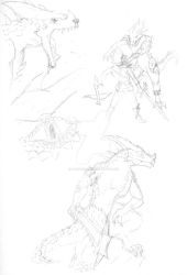 Saurus Sketches by ArrentKnave