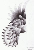Sulphur Crested Cockatoo Stippling by TheRandomGirlXD