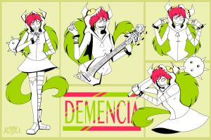 Demencia Sketches by OrderOfTheRoyalWolf