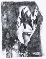 Gene Simmons by Pocket-Sparrow