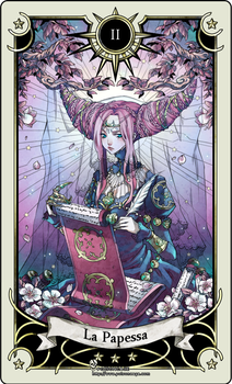 Tarot card 2- the High Priestess by rann-poisoncage