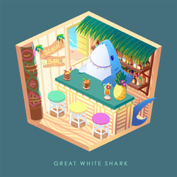 Critter Cubes: Great White Shark by ruina