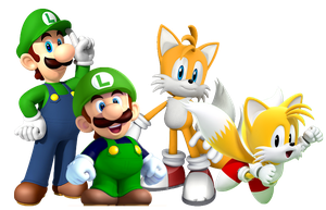 Luigi and Tails Generations by Banjo2015