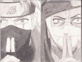 Zabuza The Devil And Kakashi by ydoc16