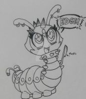 Caterpillar Doodles 4 - The Edgiest Caterpillar by PlayboyVampire