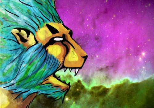 Space Lion by superiorprimate