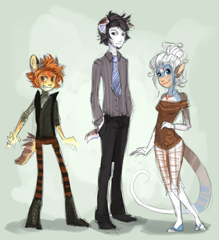 Characters by griffsnuff