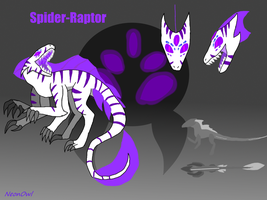 Spider-Raptor by NeonVioletOwl
