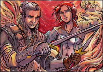PSC - Geralt and Triss by aimo